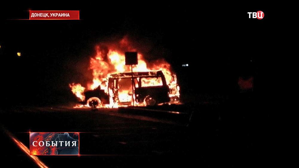 Взрыв машины лидера ДНР Дениса Пушилина