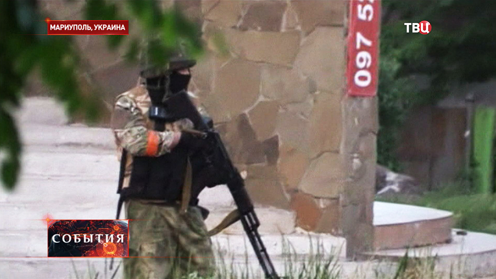 Бойцы Нацгвардии Украины в Мариуполе