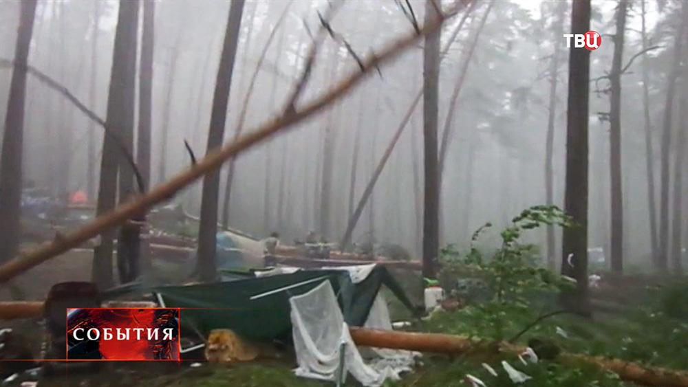 Ураган на Ильменском фестивале