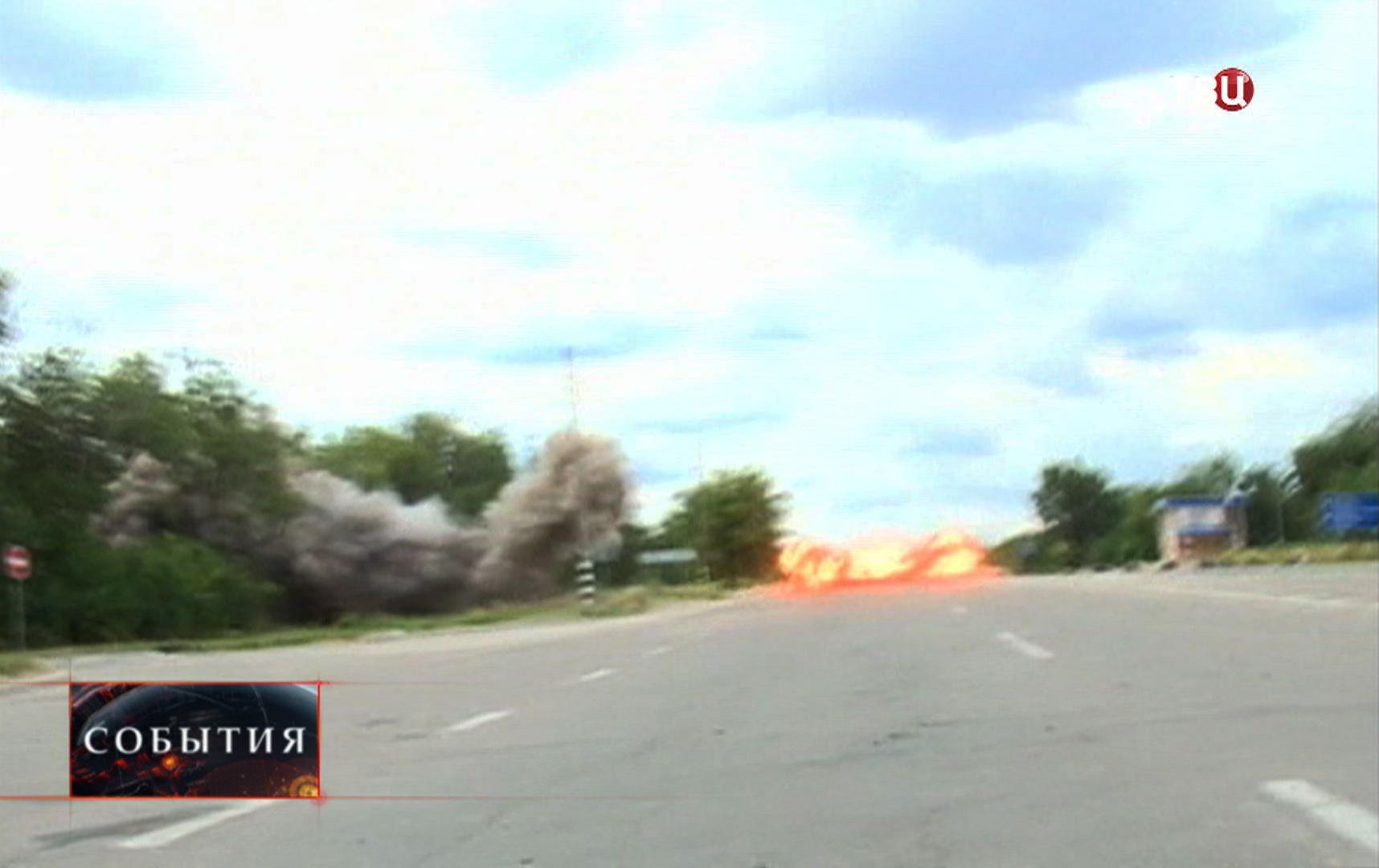 Минометный обстрел Луганска