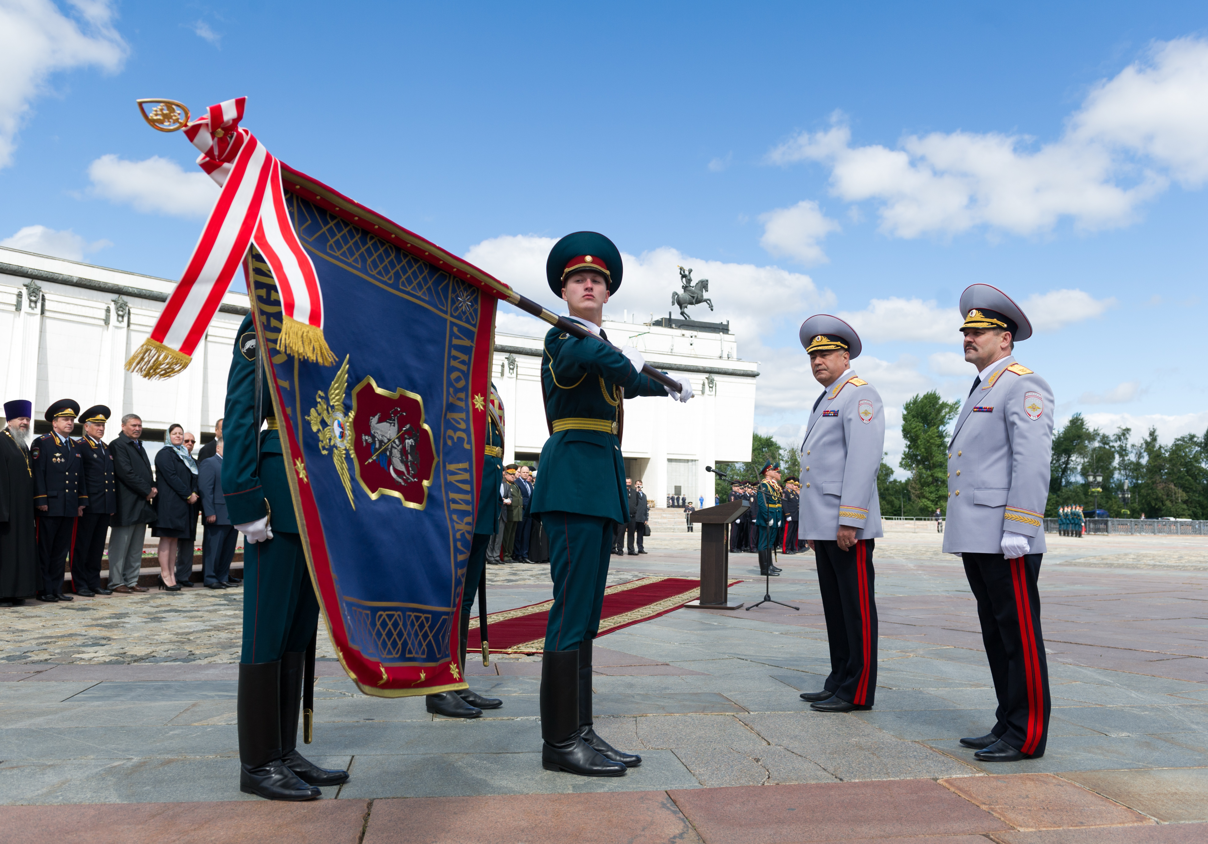 Торжественная церемония вручения знамени ГУВД по городу Москве