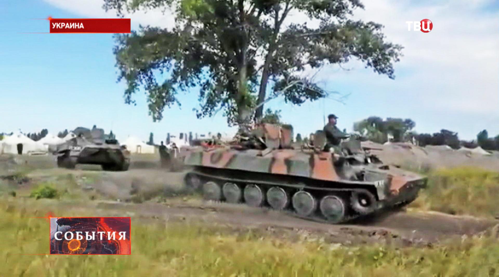 Военная техника украинской армии под Луганском