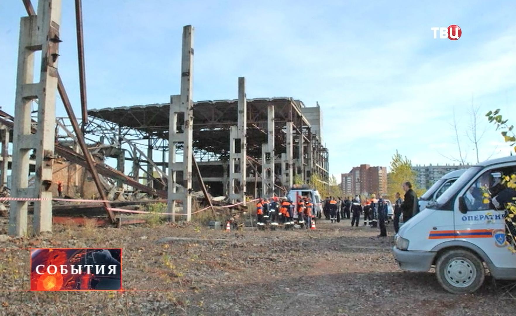 Рухнувшее здание Красноярского хладокомбината