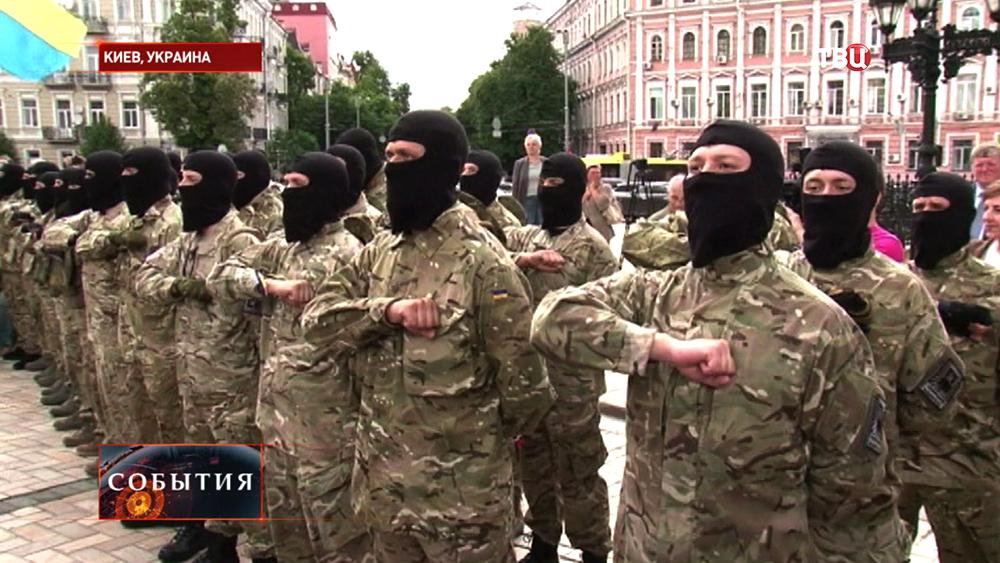 """Принятие присяги добровольцами батальона """"Азов"""""""