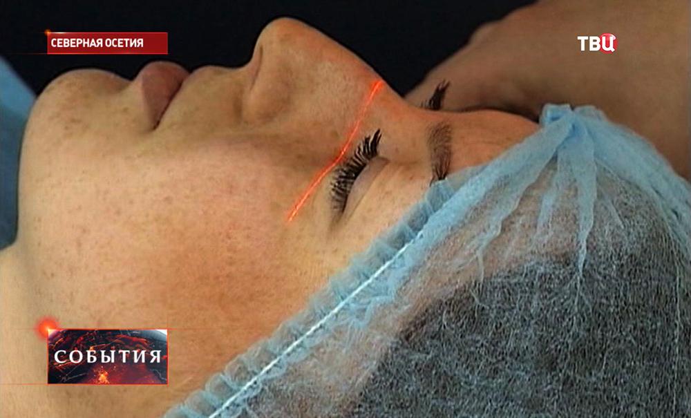Пациентка офтальмологического центра