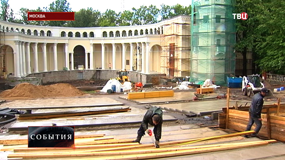 Реставрация Зеленого театра на ВДНХ