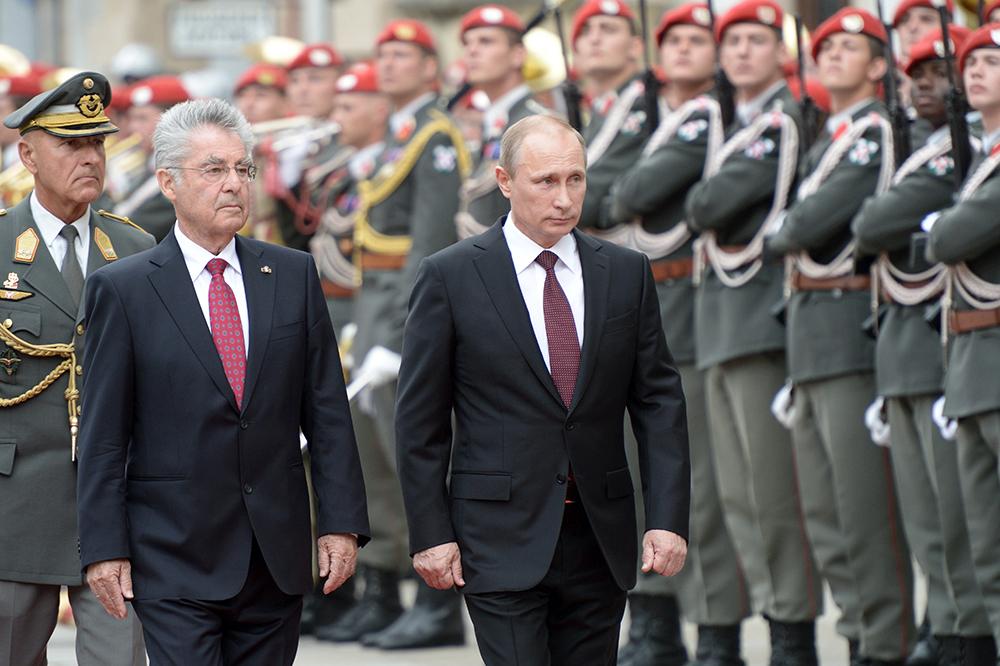 Президент России Владимир Путин и президент Австрии Хайнц Фишер
