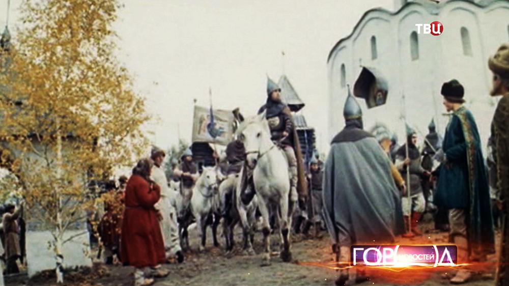 Сцена из фильма о князе Данииле Московском