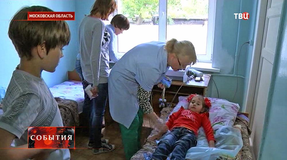 Врачи обследуют детей-беженцев с Украины