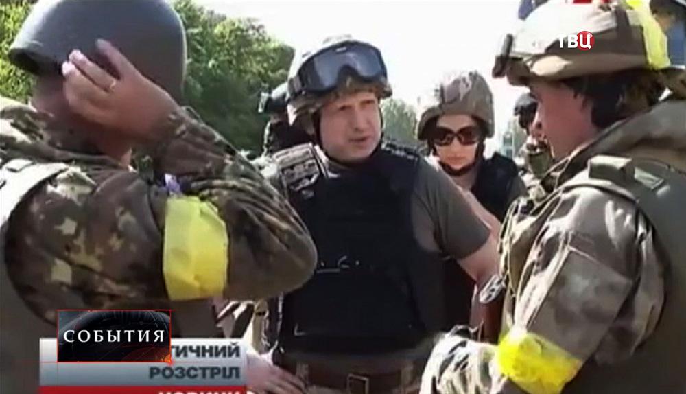 Александр Турчинов провел смотр украинских войск