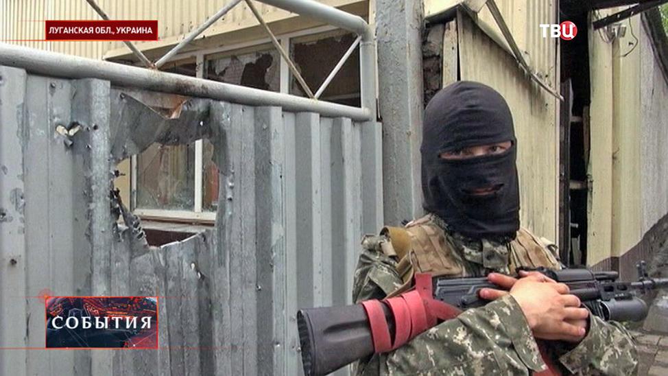 Бойцы народного ополчения в Луганской области