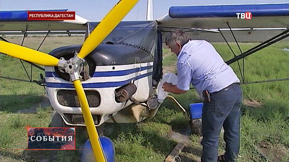 Заправка легкомоторного самолета