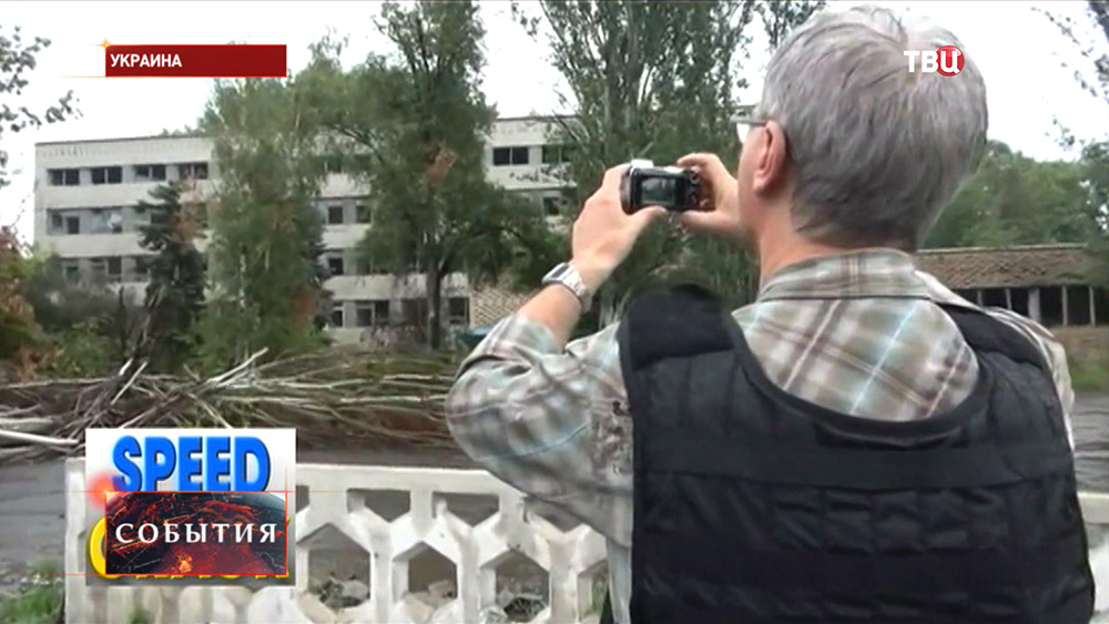 Наблюдатели ОБСЕ фиксируют разрушения на востоке Украины