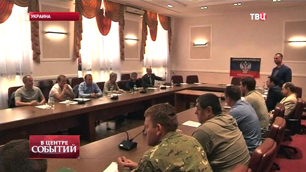 Переговоры по реализации мирного плана на востоке Украины