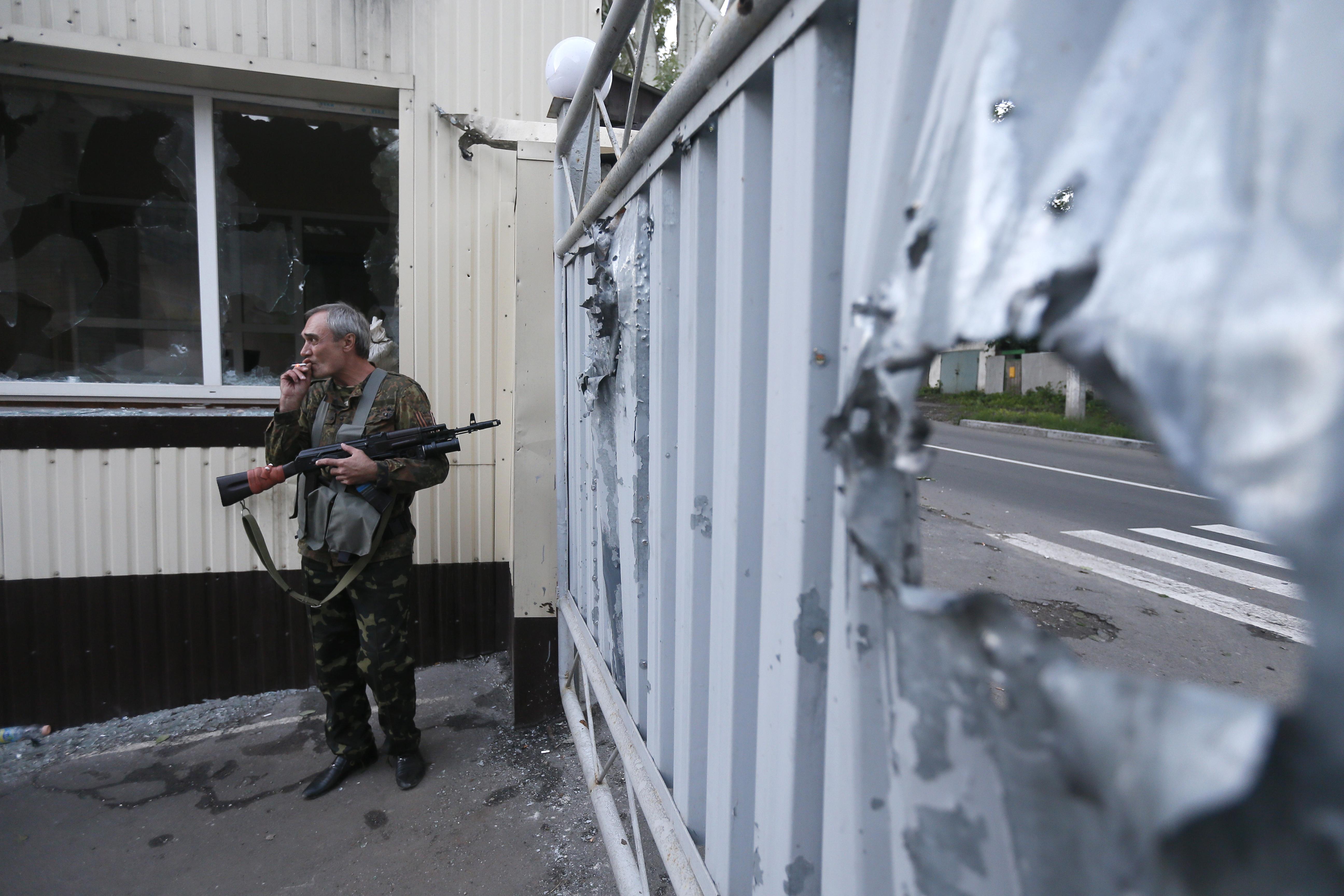 Боец народного ополчения Донбасса