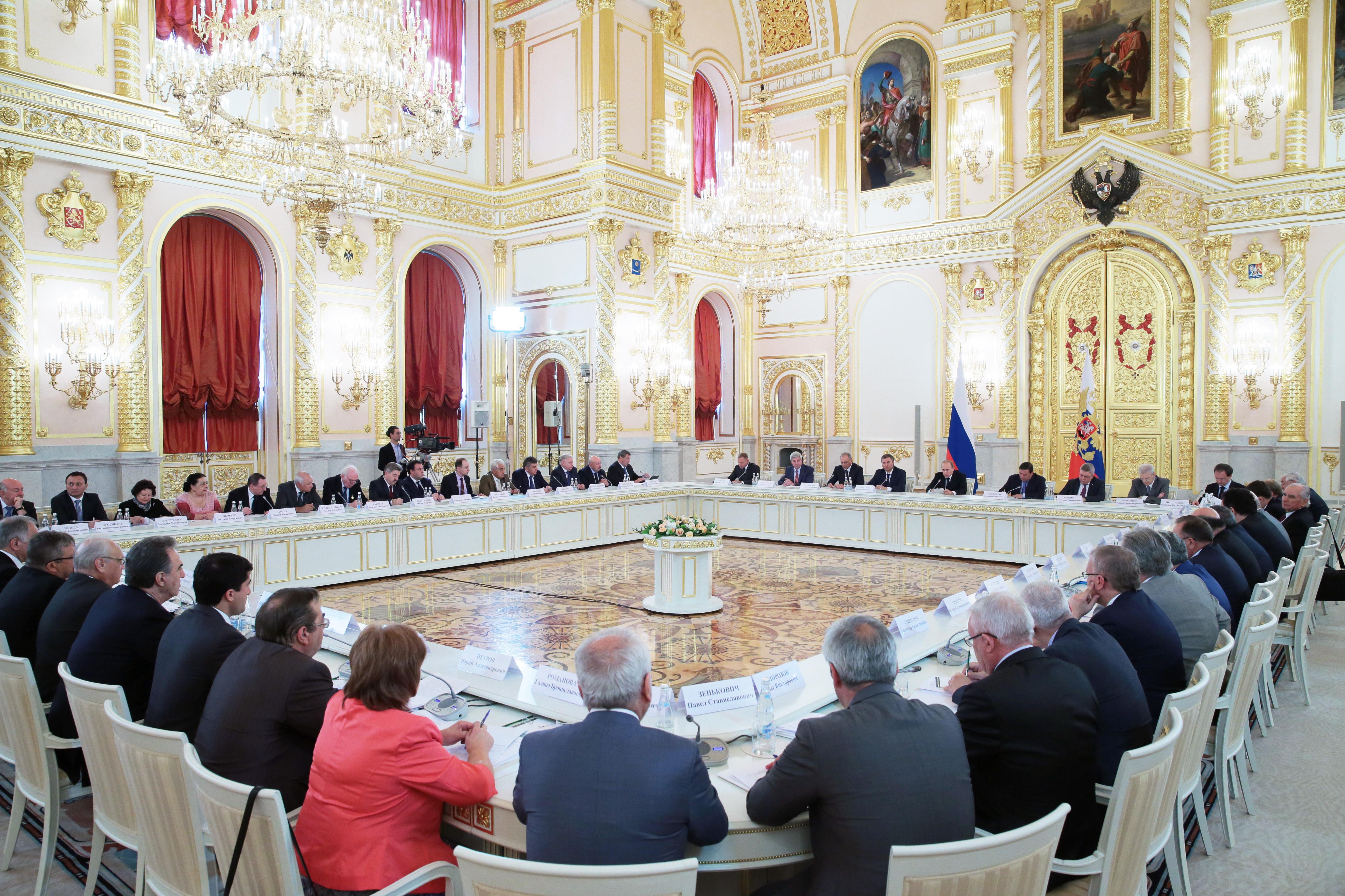 Заседание Совета при президенте РФ по межнациональным отношениям