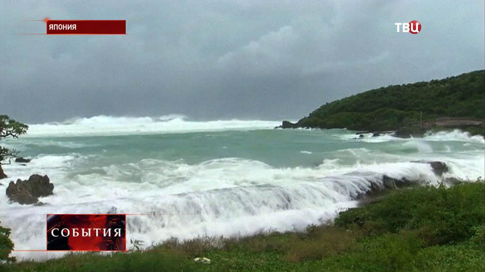 """Тайфун """"Неогури"""" обрушился на побережье Японии"""