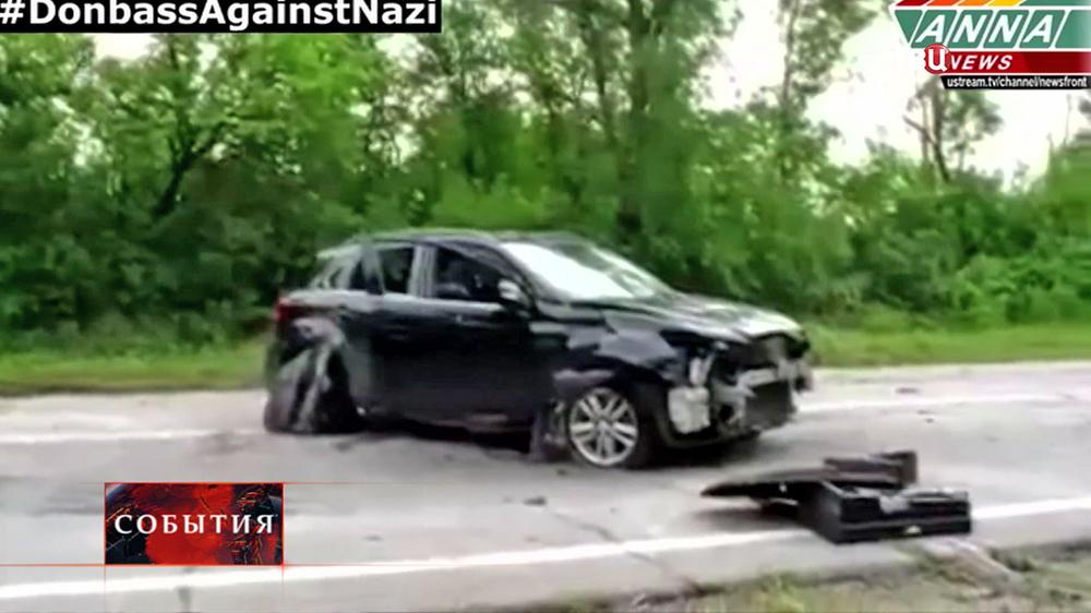 Последствия обстрела под Луганском