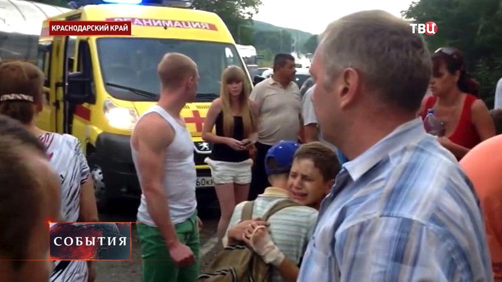 Пострадавшие в ДТП в Краснодарском крае