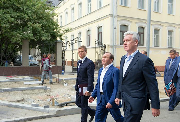 Максим Ликсутов, Пётр Бирюков и Сергей Собянин