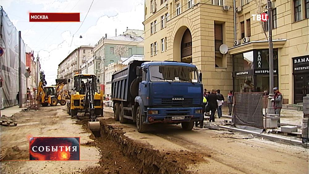 Дорожные работы на Пятницкой улице