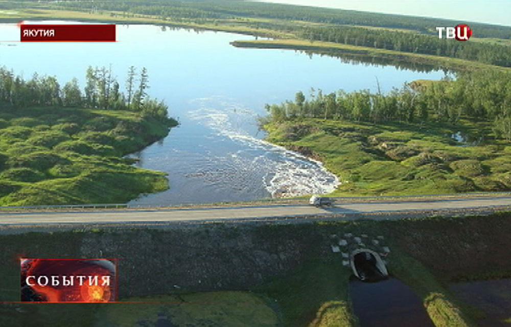 Дамба в Якутии