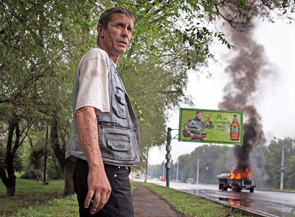 Результат минометного обстрела востока Украины
