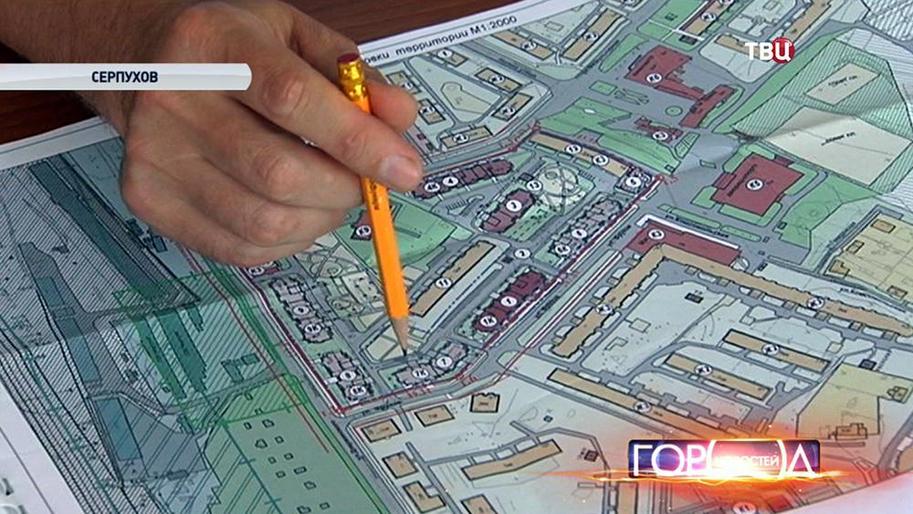 Ветхий дом на карте Серпухова