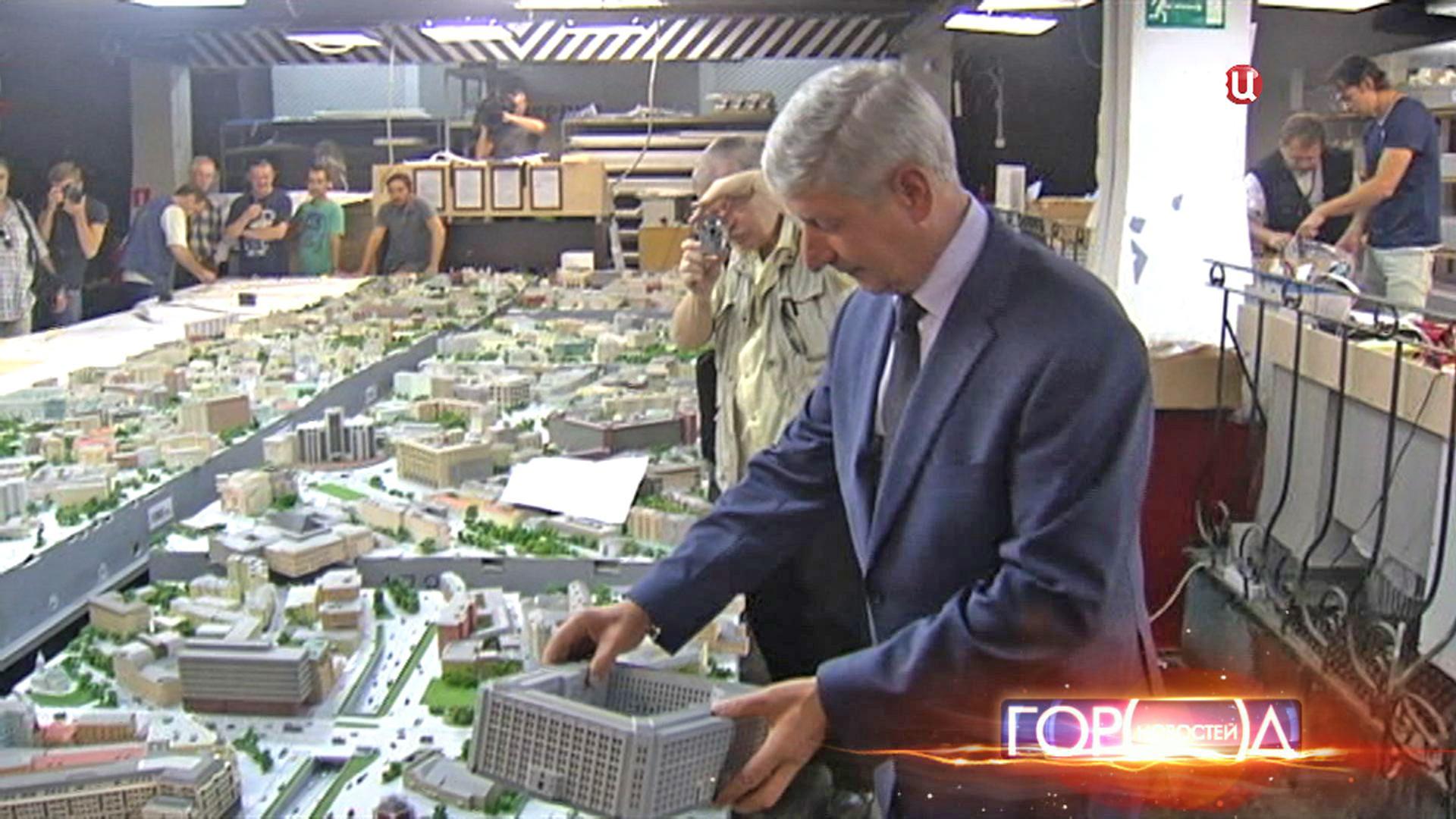 Монтаж 3D-макета Москвы