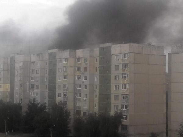 Луганск после обстрела