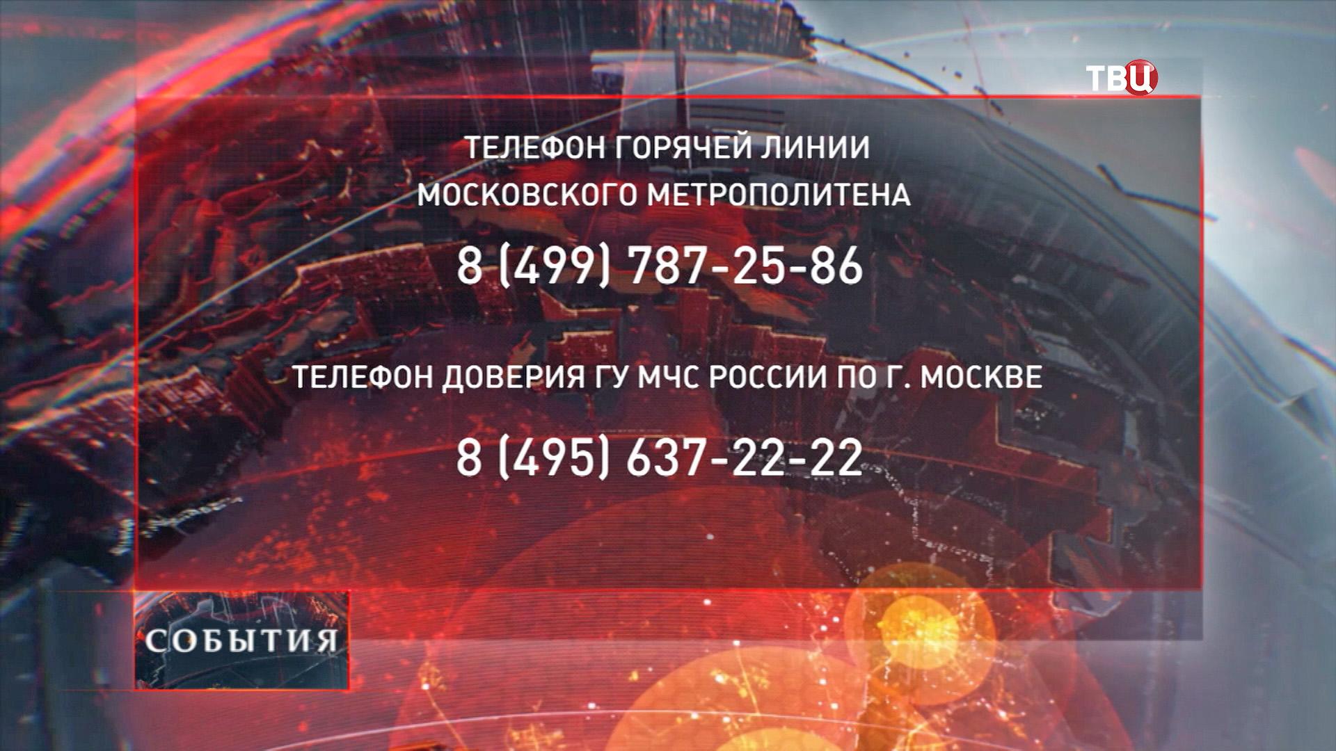 Номера телефонов горячей линии