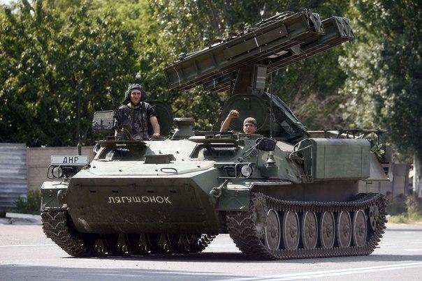 Зенитно-ракетный комплекс «Стрела-10СВ» отряда народного ополчения ДНР