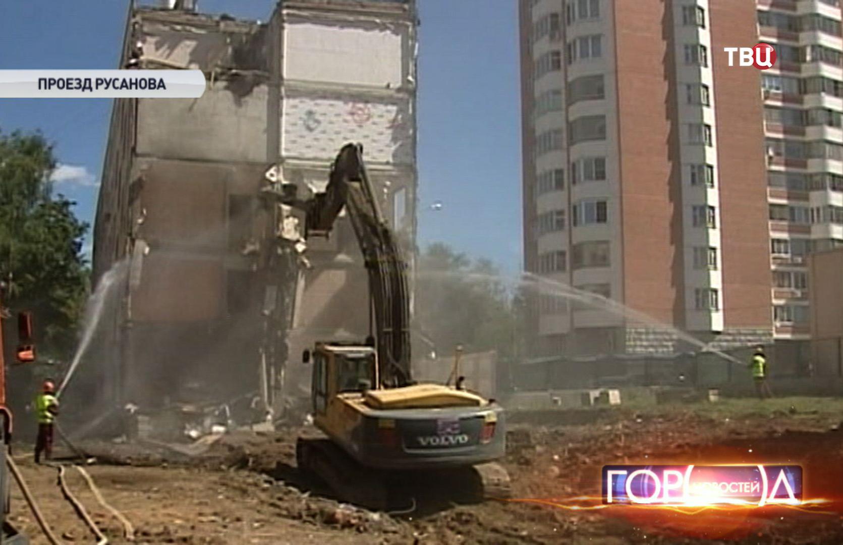 Снос зданий на проезде Русанова