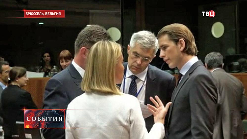Встреча глав МИД стран ЕC в Брюсселе