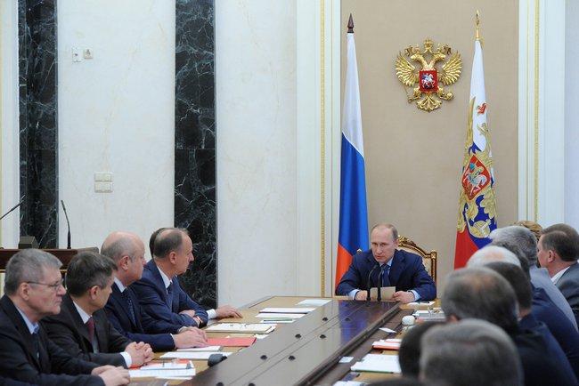 Путин на заседании Совбеза