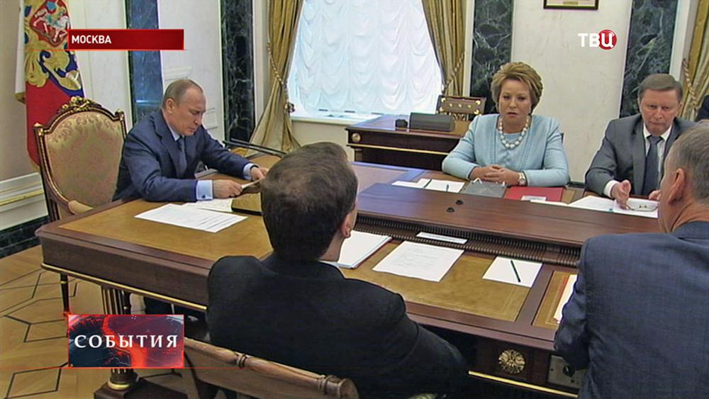 Владимир Путин на заседании Совбеза