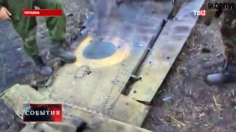 Место крушения самолета ВВС Украины