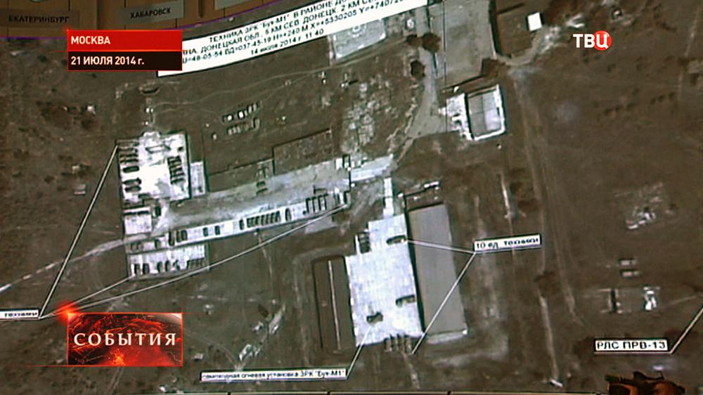 """Космические снимки расположения украинских ракетных систем """"Бук"""""""