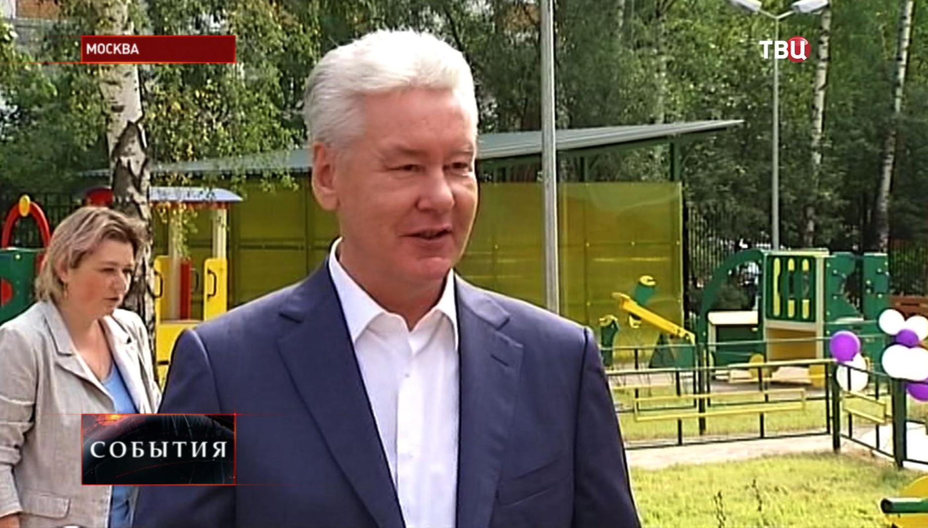 Сергей Собянин на открытии детского сада в Ховрино