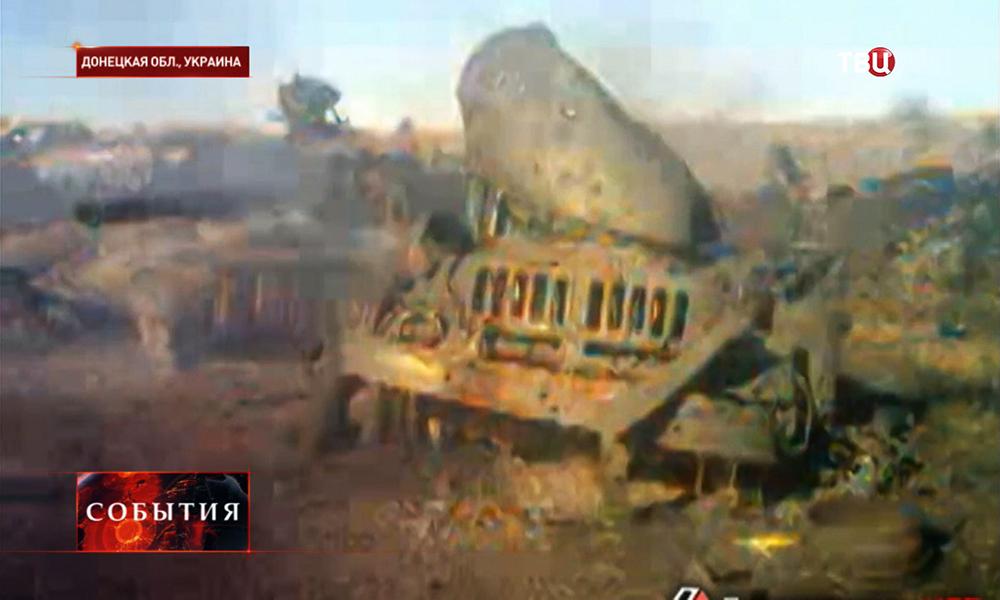 Разбитая военная техника Нацгвардии Украины