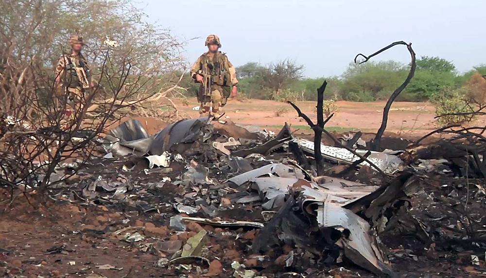 Место крушения самолета авиакомпании Air Algerie на севере Мали