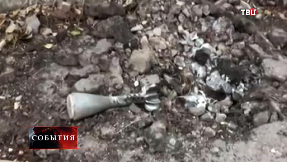 Последствия обстрела фосфорными бомбами