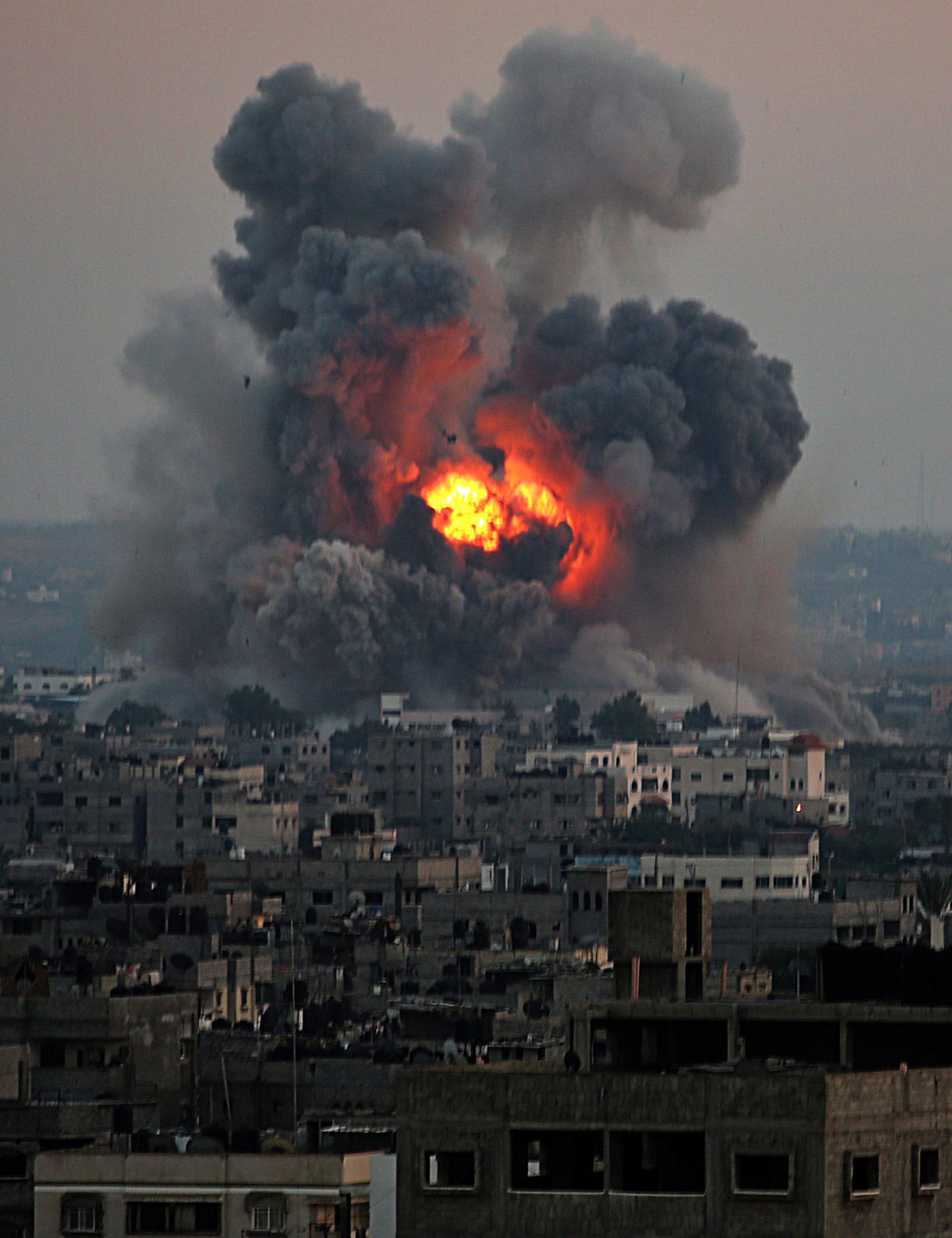 Авиаудар ВВС Израиля в секторе Газа