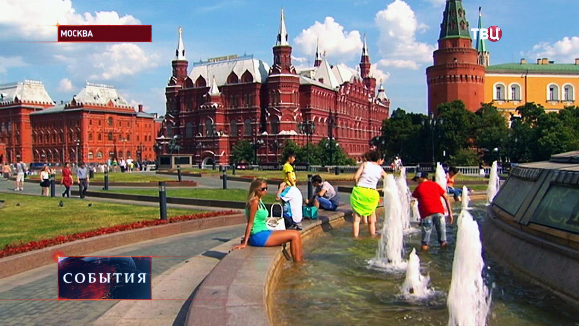 Жаркая погода в Москве