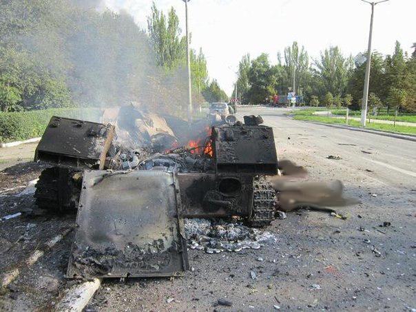 Потери украинских войск в Шахтерске
