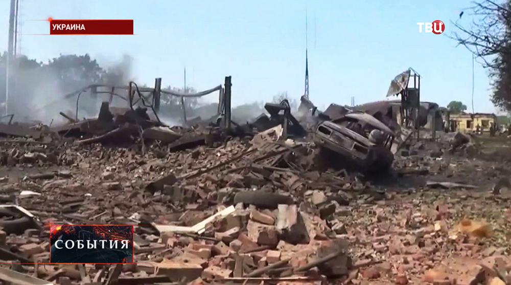 Результат артобстрела жилых кварталов Нацгвардией Украины