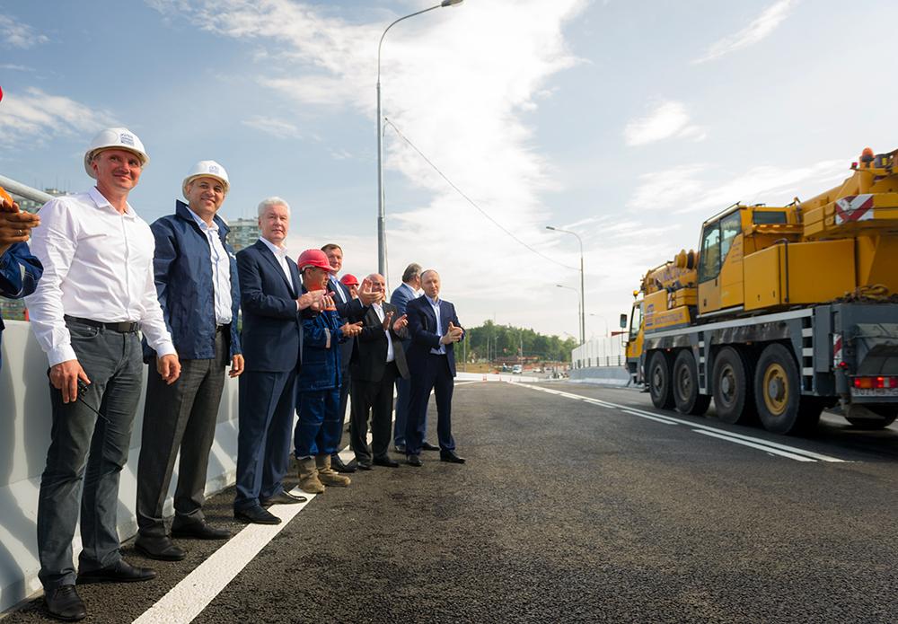 Осмотр хода реконструкции Можайского шоссе