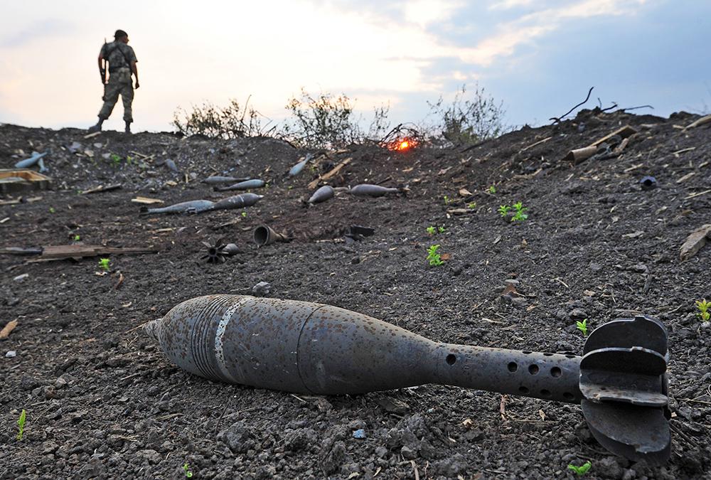 Бойцы народного ополчения после боя с Нацгвардией Украины