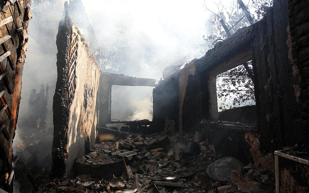 Последствия артобстрела украинской армии