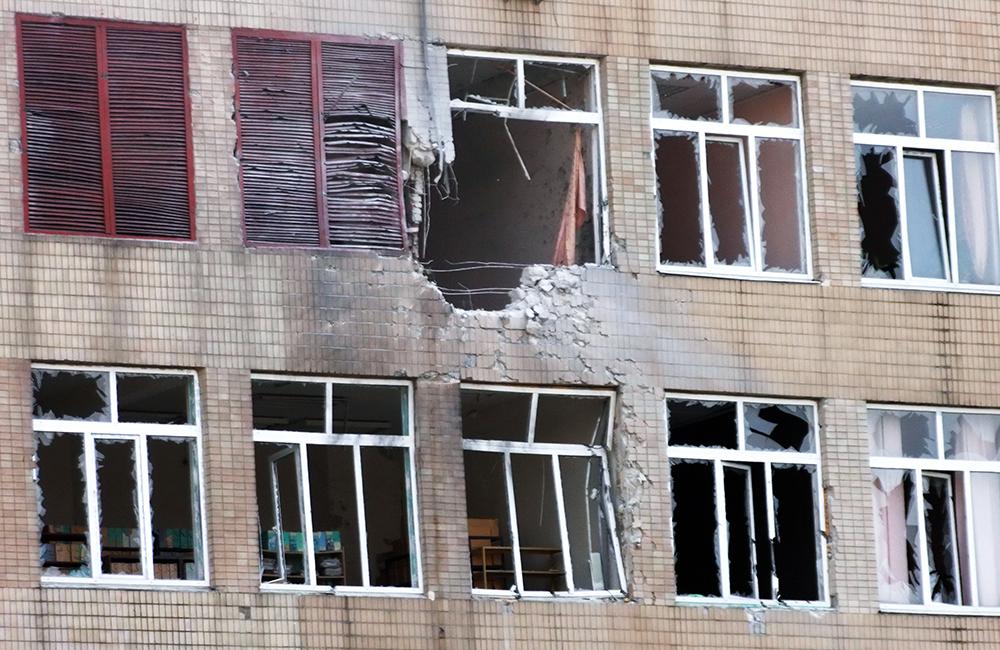 Результат артобстрела Донецка